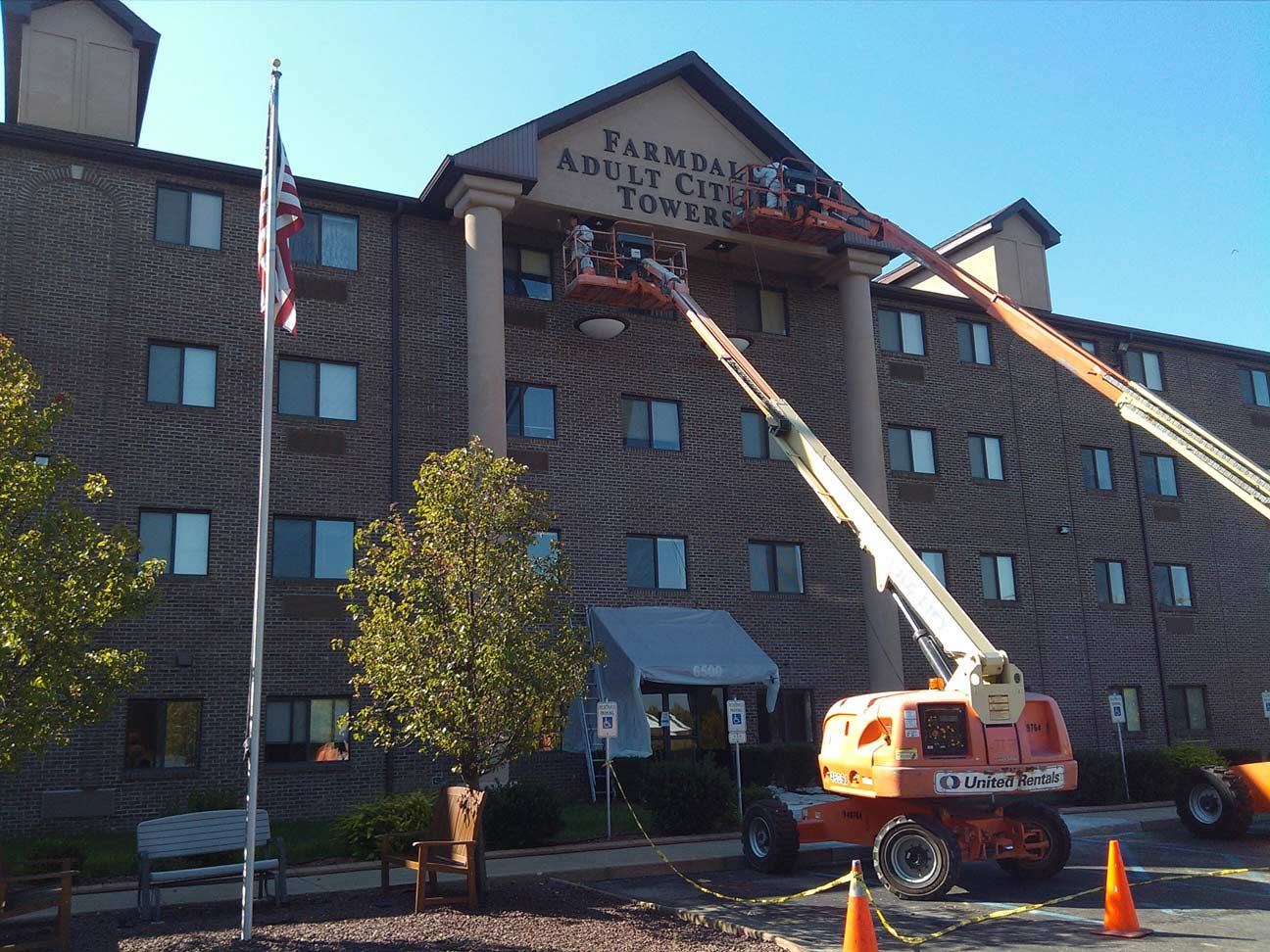 Commercial Painter in Louisville KY | H.F. Steilberg CO | Projects | Farmdale Adult Community Tower Commercial Portfolio